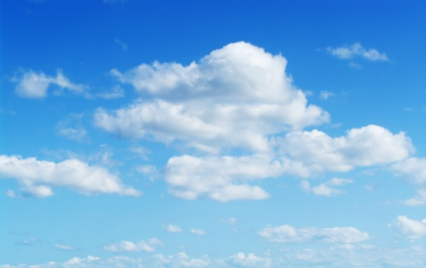 perfect cloudy blue sky