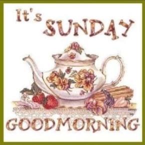 Sunday, yay! …